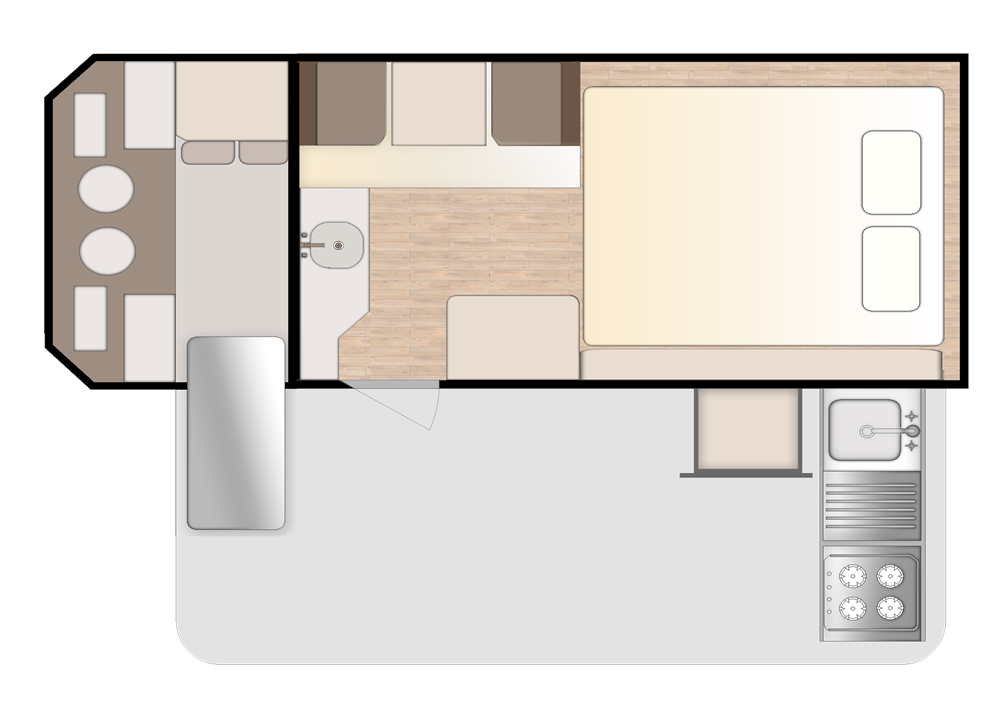 caravan floor plan